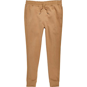 Light brown jersey joggers