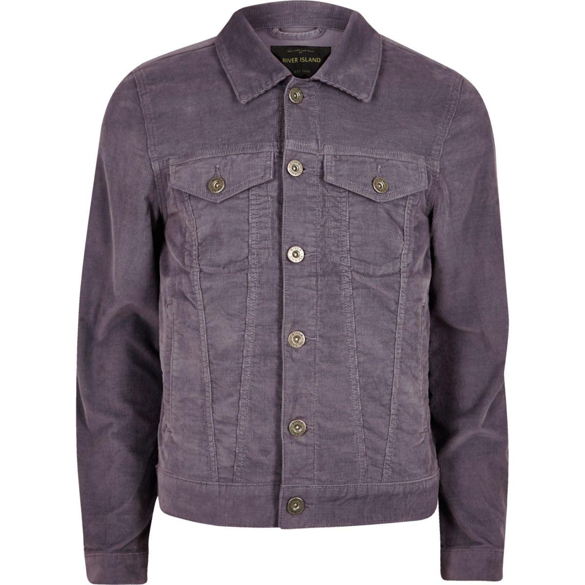 Purple cord jacket