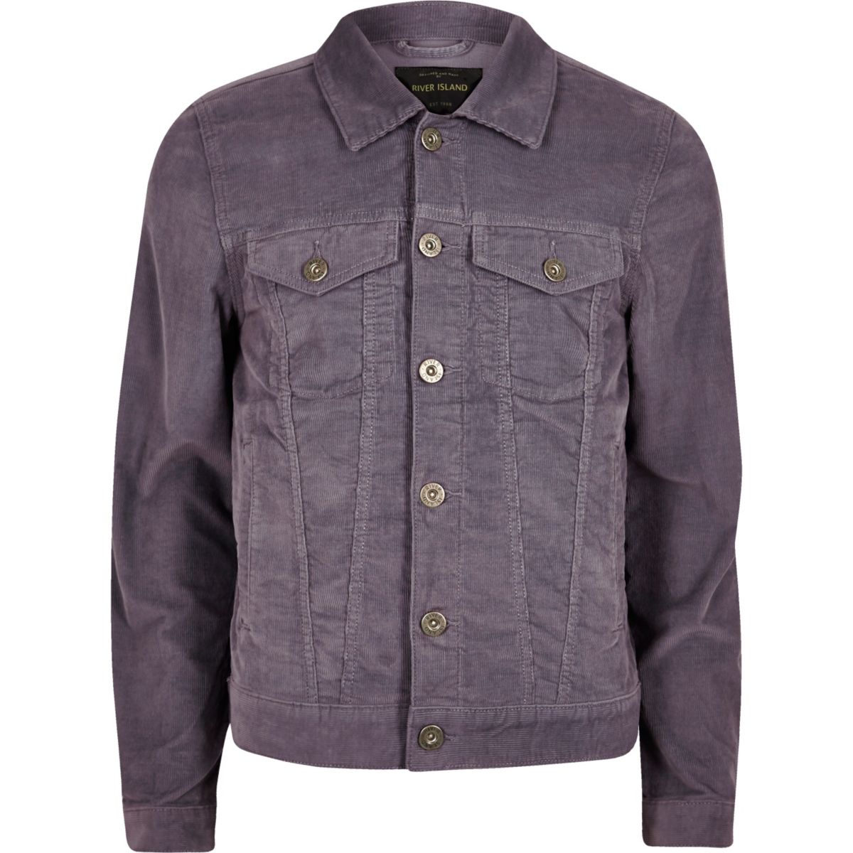 Purple cord jacket