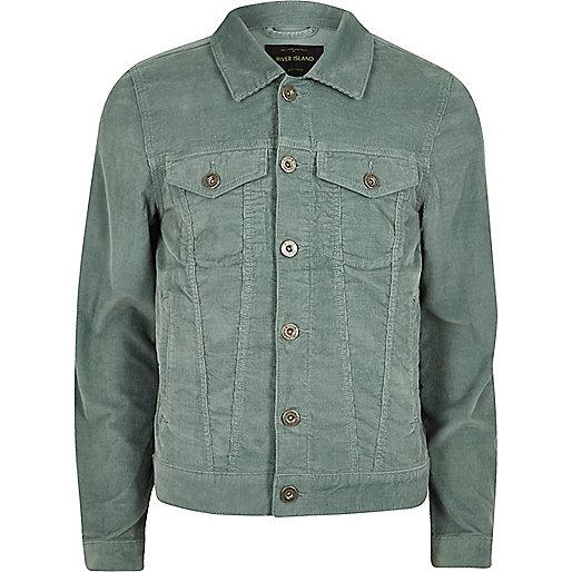 Green cord jacket
