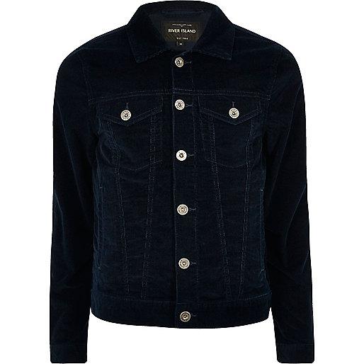 Navy cord jacket