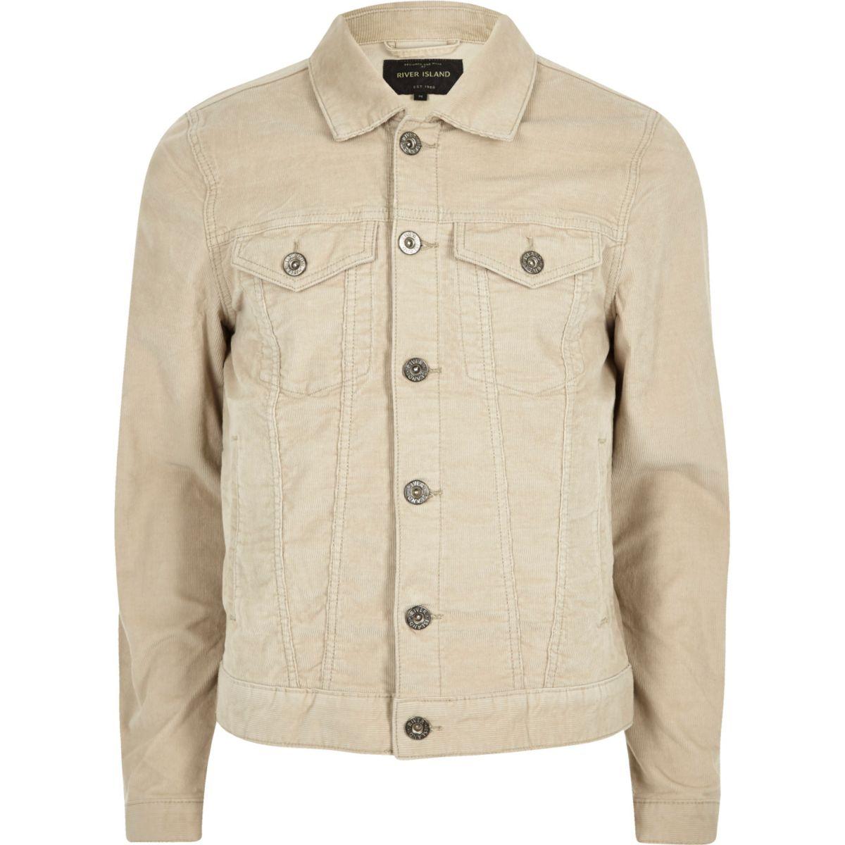 Light beige cord jacket
