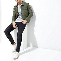 Dark green denim jacket