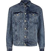 Blue oversized denim jacket