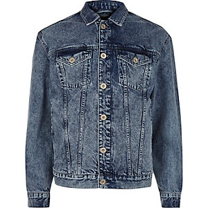 Blauw oversized denim jack