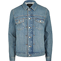 Blue relaxed fit denim jacket