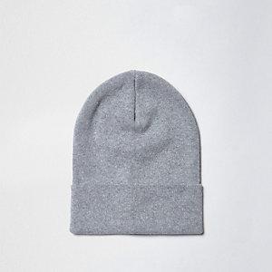 Bonnet souple en maille fine gris