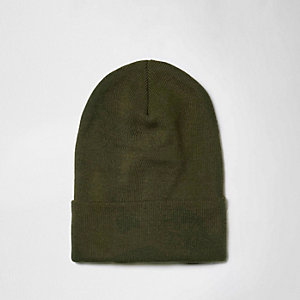 Bonnet souple en maille fine vert