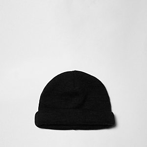 Grey roll hem fisherman beanie