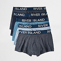 Big and Tall blue hipster boxers multipack