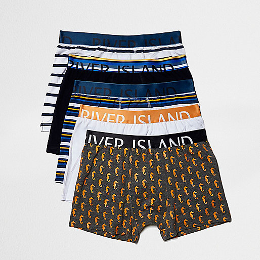 Blue nautical boxers pack