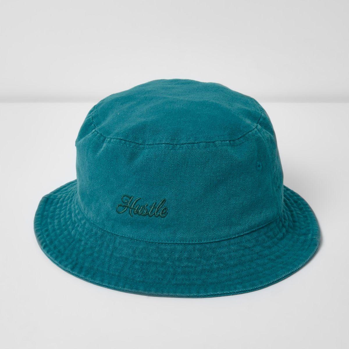 Blue 'Hustle' bucket hat
