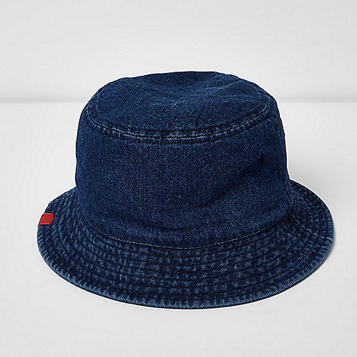 Blue denim bucket hat