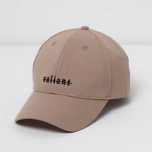 Pink 'Valiant' print cap