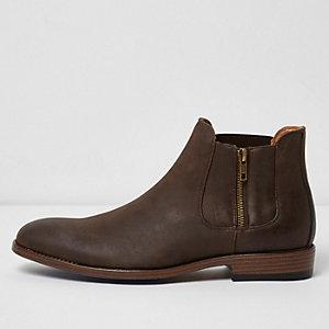 Bruine Chelsea-laarzen