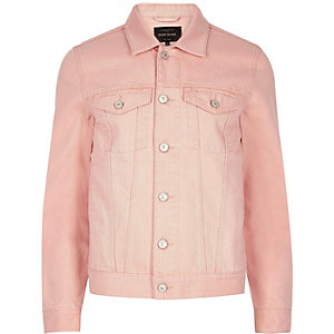 Big & Tall – Pinke Jeansjacke
