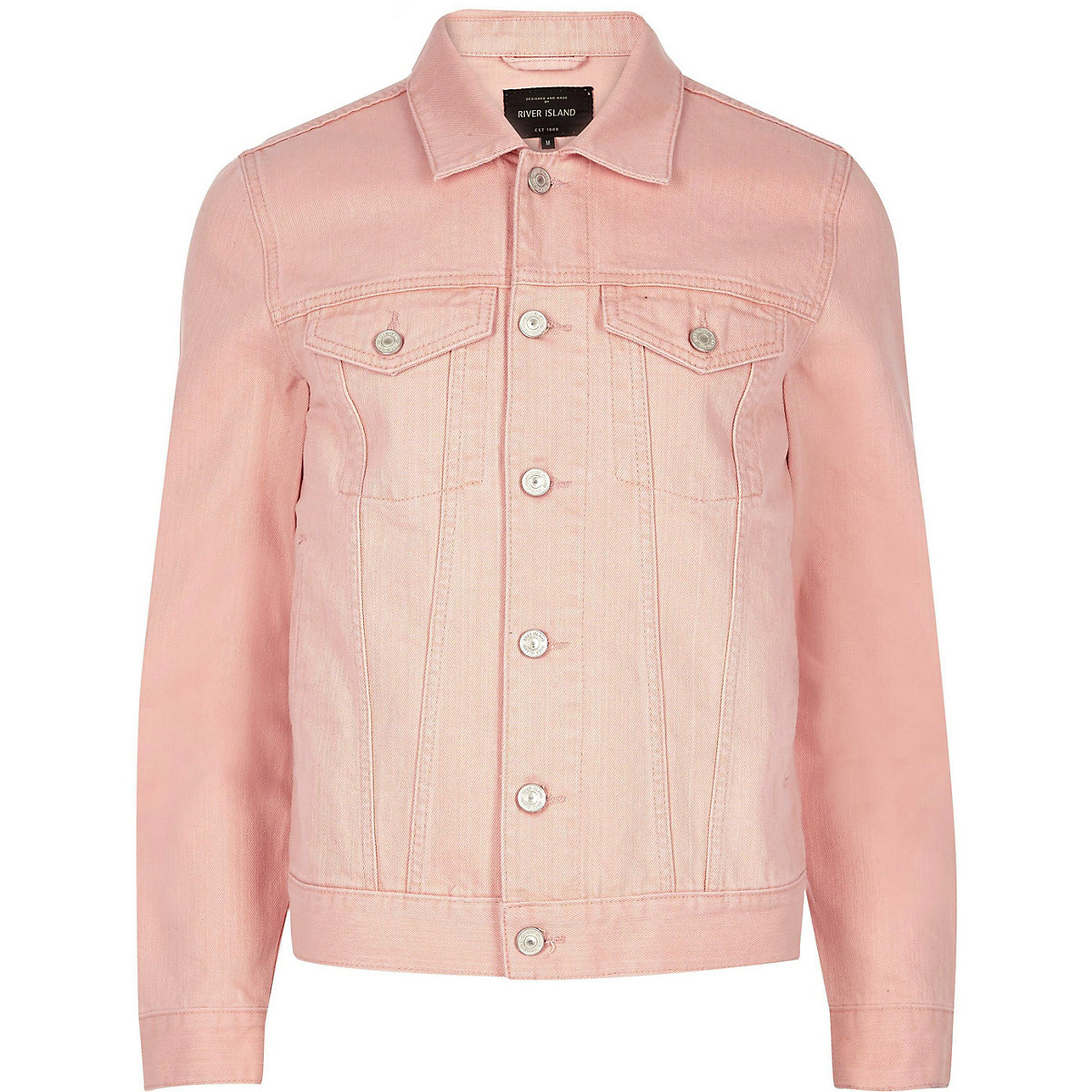 Big and Tall pink denim jacket