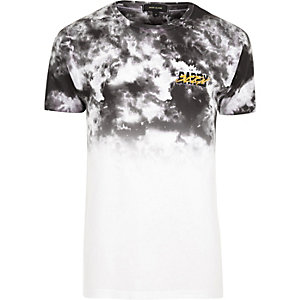 White and grey tie dye T-shirt