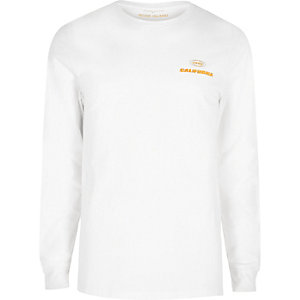 White print long sleeve T-shirt