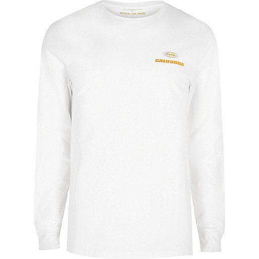 White print long sleeve T-shirt