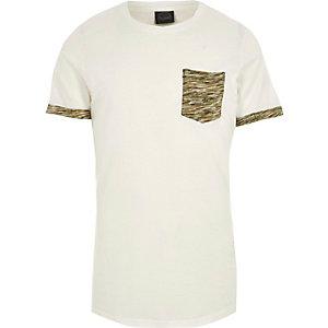 Jack & Jones – Weißes T-Shirt mit aufgesetzter Tasche