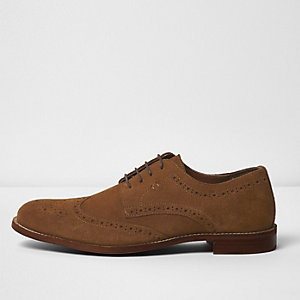 Tan suede brogues