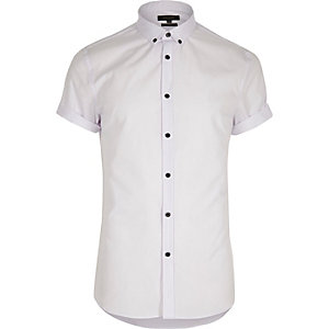 Big and Tall white short sleeve shirt