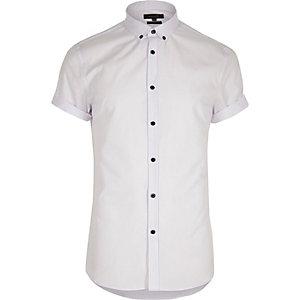 Big & Tall – Weißes, kurzärmliges Hemd