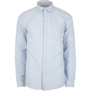 Light blue casual regular fit Oxford shirt