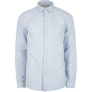 Light blue casual regular fit Oxford shirt