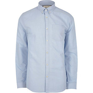 Light blue button down collar Oxford shirt