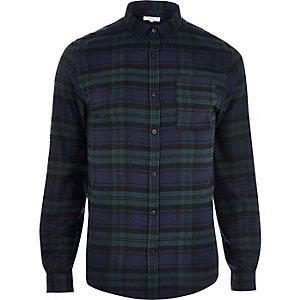 Chemise à carreaux verte casual