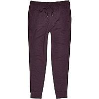 Dark purple cotton joggers