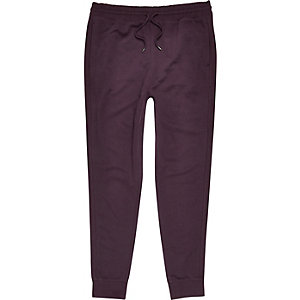 Dark purple cotton joggers