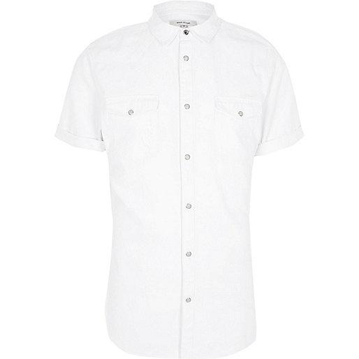 White short sleeve western shirt