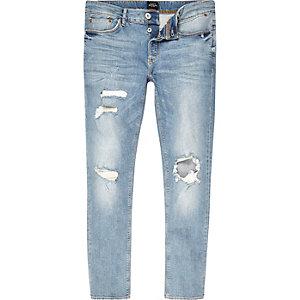 Sid – Hellblaue Skinny Jeans im Used-Look