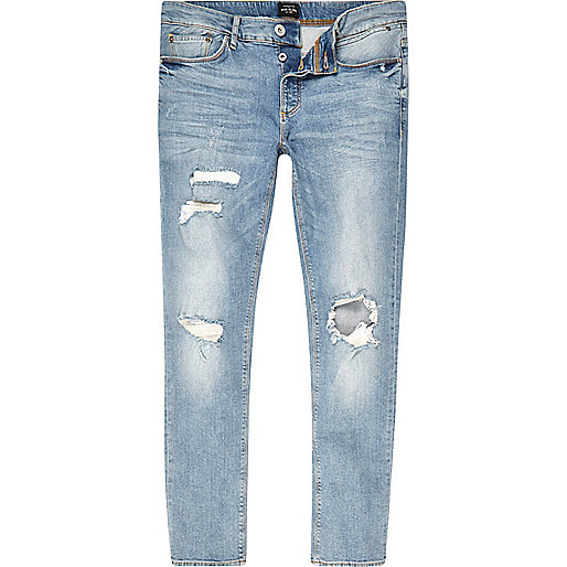 Light blue Sid ripped skinny jeans