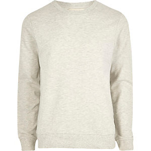 Light grey marl crew neck sweatshirt