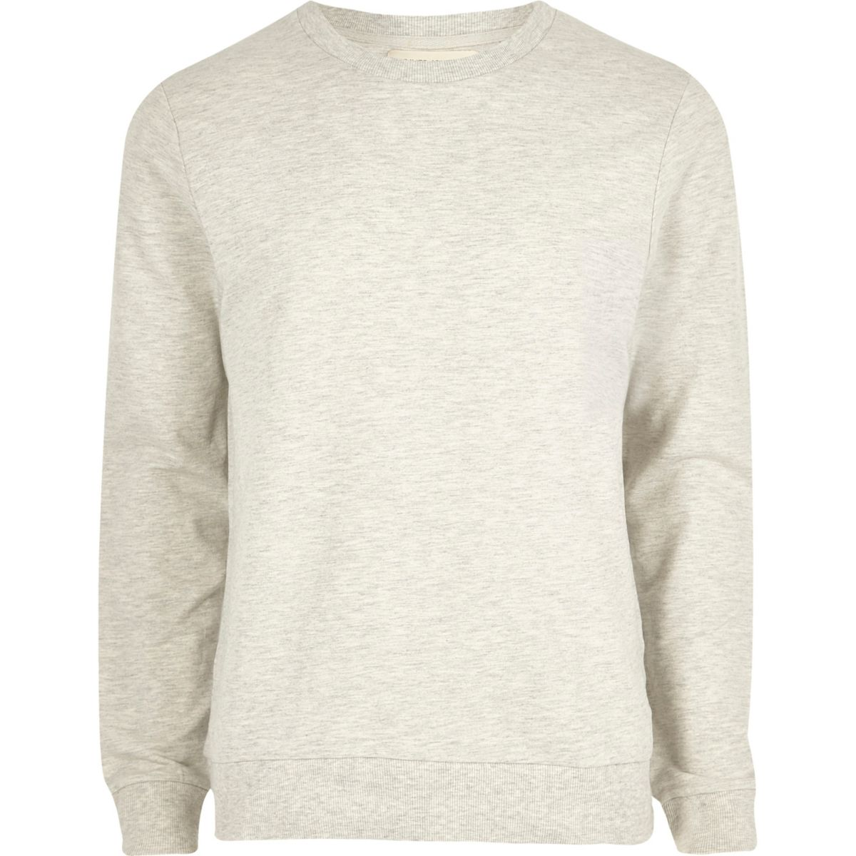 Light grey marl crew neck sweatshirt