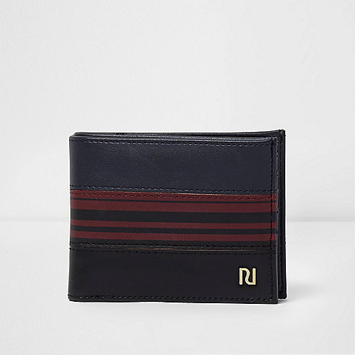 Blue and red stripe wallet