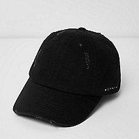 Black '1996' print distressed cap