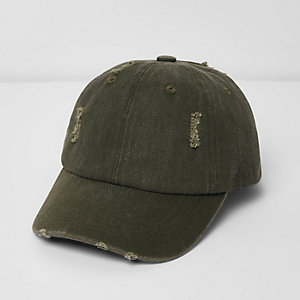 Khaki distressed cap