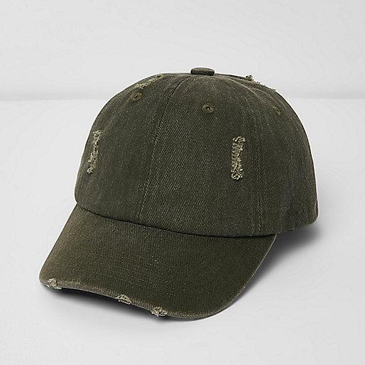 Khaki distressed cap