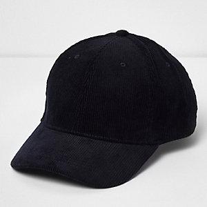 Navy corduroy cap