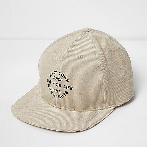Stone 'High Life' embroidered corduroy cap
