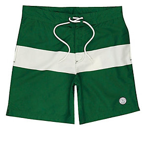 Green Jack & Jones board swim trunks