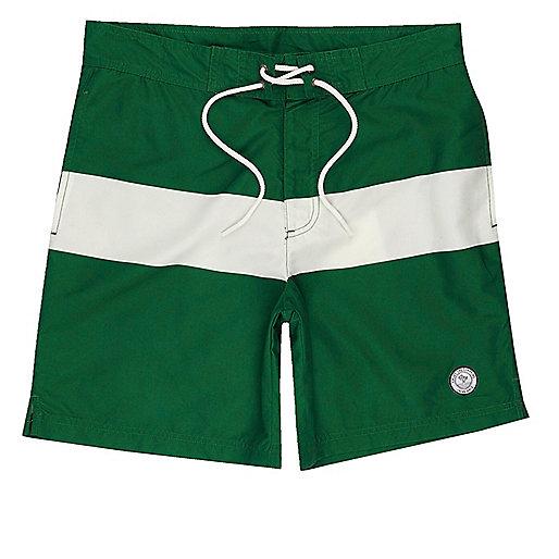Green Jack & Jones board swim trunks