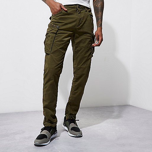 Green Jack & Jones Vintage cargo pants
