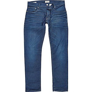 Jack & Jones – Dylan – Blaue Slim Fit Jeans