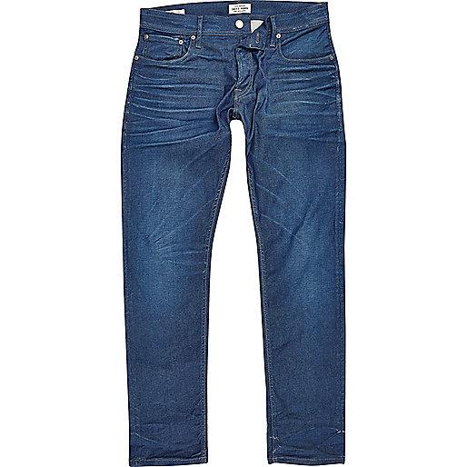 Jack & Jones blue wash slim fit Dylan jeans
